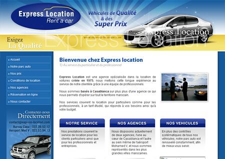 express location site web pour location de voitures blog adk media blog adk media. Black Bedroom Furniture Sets. Home Design Ideas