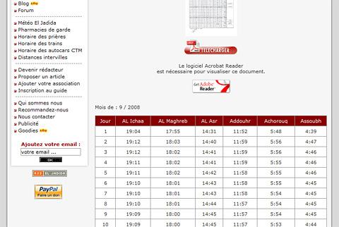 Une classe php pour afficher l 39 horaire des pri res blog - Horaire de priere cavaillon ...