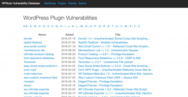 WordPress-Plugin-Vulnerabilities